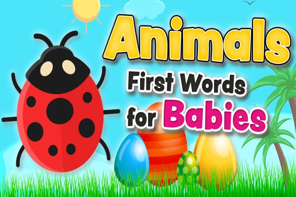 Animals vocabulary – First words for babies and toddlers in English