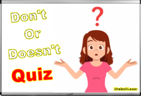 Grammar : Don't Or Doesn't - Quiz 1