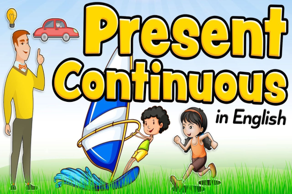 Present continuous in English for kids – What are you doing?
