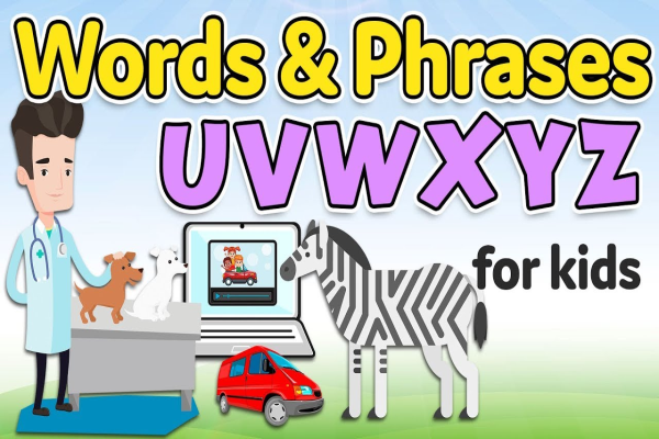 Words and phrases in English for kids
