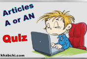 Articles A or An - Quiz