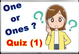 One / Ones - Online Quiz (1)